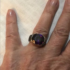 Lia Sophia Jewelry - Lia Sophia silver and  amethyst ring